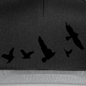 Flying birds nature  Men's Slim Fit T-shirt - Snapback Cap