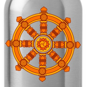 Dharma Wheel of Fortune, Buddhism, Chakra T-Shirts - Water Bottle
