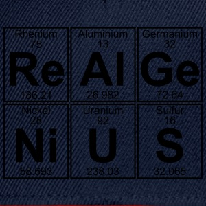Re-Al-Ge-Ni-U-S (real genius) - Full T-shirts - Snapback Cap
