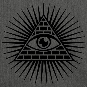 all seeing eye -  eye of god / pyramid - symbol of Omniscience & Supreme Being T-shirt - Borsa in materiale riciclato
