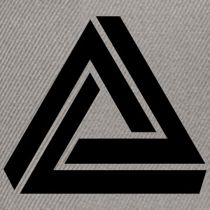 Penrose triangle, Impossible, illusion, Escher Magliette - Snapback Cap