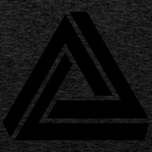 Penrose triangle, Impossible, illusion, Escher T-Shirts - Men's Premium Tank Top
