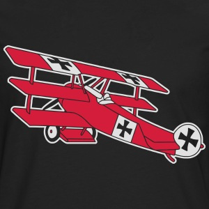 Fokker Airplane Flugzeug Roter Baron Red World War T-shirts - Mannen Premium shirt met lange mouwen