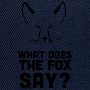 Fuchs: What does the fox say? Wie macht der Fuchs? T-Shirts - Snapback Cap