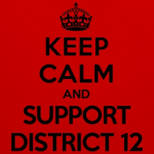 Keep calm and support District 12 (Hunger Games) T-shirts - Kontrastluvtröja