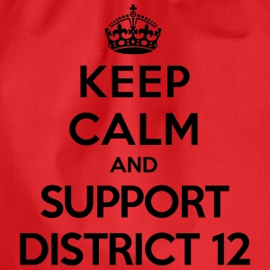 Keep calm and support District 12 (Hunger Games) Tee shirts - Sac de sport léger