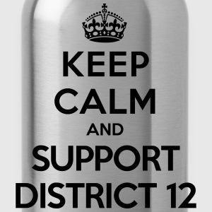 Keep calm and support District 12 (Hunger Games) Tee shirts - Gourde
