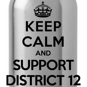 Keep calm and support District 12 (Hunger Games) T-shirts - Vattenflaska