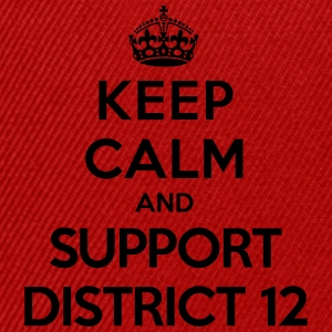 Keep calm and support District 12 (Hunger Games) Tee shirts - Casquette snapback