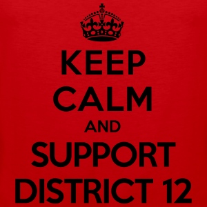 Keep calm and support District 12 (Hunger Games) T-shirts - Premiumtanktopp herr