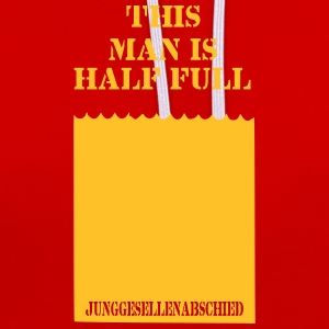 this man is half full junggesellenabschied - Kontrast-Hoodie