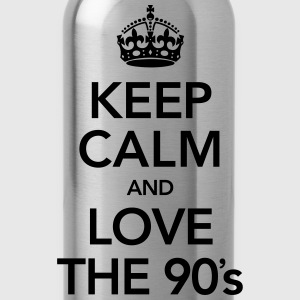 Keep Calm And Love The 90´s Magliette - Borraccia