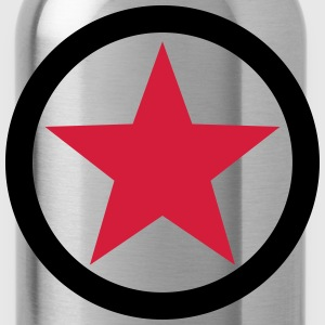 Star Revolution Circle Rebel Anarchy Fight Left  T - Trinkflasche