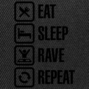 Eat sleep rave repeat Camisetas - Gorra Snapback