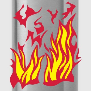 3026 Flamme Feuer T-Shirts - Trinkflasche