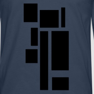 rectangles_noirs Tee shirts - T-shirt manches longues Premium Homme