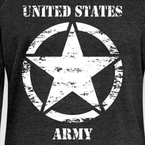 us vintage army star 02 T-Shirts - Women's Boat Neck Long Sleeve Top