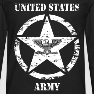 us vintage army star 03 Tee shirts - T-shirt manches longues Premium Homme