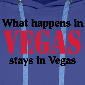 What happens in Vegas, stays in Vegas Tee shirts - Sweat-shirt à capuche Premium pour hommes