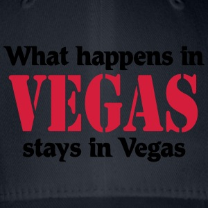 What happens in Vegas, stays in Vegas T-shirts - Flexfit baseballcap