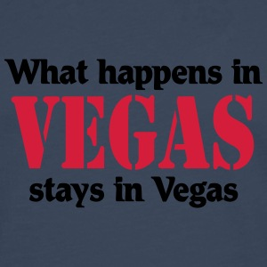 What happens in Vegas, stays in Vegas Magliette - Maglietta Premium a manica lunga da uomo