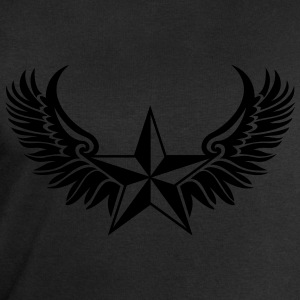 Nautical Star Wings, Tattoo Style, Protection Sign T-Shirts - Men's Sweatshirt by Stanley & Stella