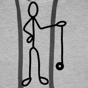 Stick figure with Jojo T-Shirts - Men's Premium Hoodie
