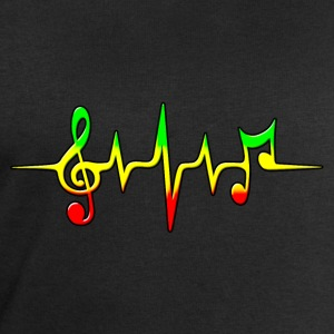 Reggae, music, notes, pulse, frequency, Rastafari T-Shirts - Men's Sweatshirt by Stanley & Stella