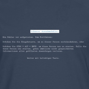 Blue Screen T-Shirts - Männer Premium Langarmshirt