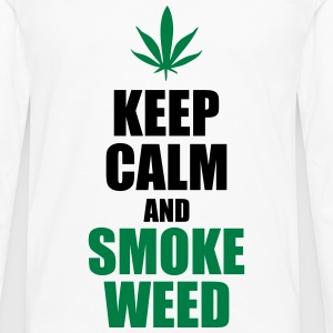 Keep Calm and Smoke Weed Tee shirts - T-shirt manches longues Premium Homme