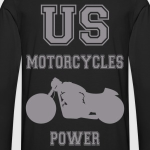us motorcycles power 5 T-Shirts - Männer Premium Langarmshirt