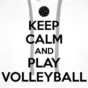 Keep calm and play volleyball Camisetas - Sudadera con capucha premium para hombre