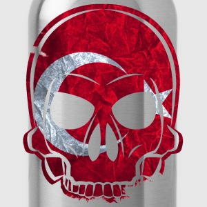 MMJ Turkey Flag Skull / Skull T-Shirts - Water Bottle