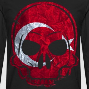 T-shirts MMJ Turquie Skull Flag / Skull - T-shirt manches longues Premium Homme