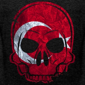 MMJ Turkey Flag Skull / Skull T-Shirts - Men's Premium Tank Top