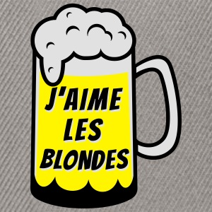J'aime les blondes Tee shirts - Casquette snapback