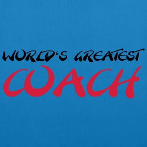 World's greatest Coach T-shirts - Øko-stoftaske