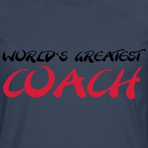 World's greatest Coach T-shirts - Herre premium T-shirt med lange ærmer