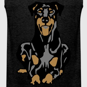 Dobermann Pinscher Dog T-Shirts - Men's Premium Tank Top