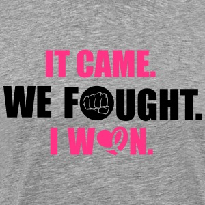 It came - we fought - I won: cancer Langærmede T-shirts - Herre premium T-shirt