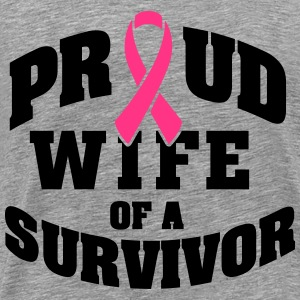 Proud wife of a survivor Tops - Men's Premium T-Shirt