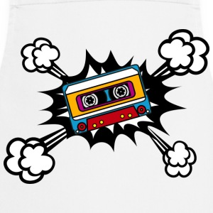 Retro cassette, tape, comic style, pop art, music Magliette - Grembiule da cucina