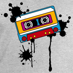Retro mix tape, splash, splatter, music, 80er T-Sh - Männer Sweatshirt von Stanley & Stella