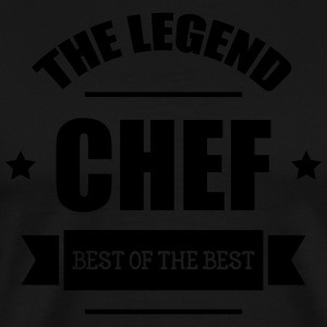 Chef   cooking Kookschorten - Mannen Premium T-shirt