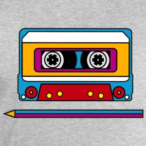 Retro mix tape, pencil, music, audio, walkman T-shirts - Sweatshirt herr från Stanley & Stella