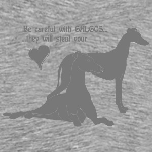be careful with galgos Langarmshirts - Männer Premium T-Shirt