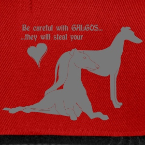 be careful with galgos T-Shirts - Snapback Cap