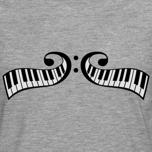 Conception de touches piano piano clef Tee shirts - T-shirt manches longues Premium Homme
