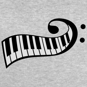 Piano keys Piano clef T-Shirts - Men's Sweatshirt by Stanley & Stella