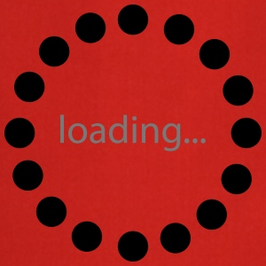 Loading bar, Preload, Bar, load, computer  Camisetas - Delantal de cocina